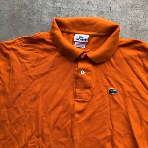 Lacoste men's polo shirt orange shirt sleeve